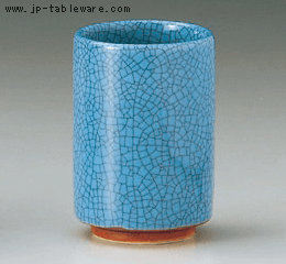 マリンブルー墨貫入切立(中)湯呑