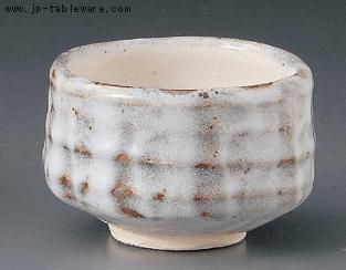 雪志野抹茶碗(化)