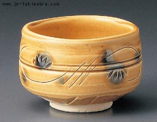 黄瀬戸抹茶碗(化)
