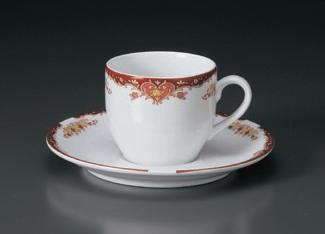 アラベスクルージュコーヒーC/S(碗と受け皿セット)