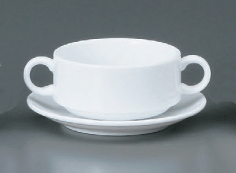 プラージュ両手スープカップ(碗)(カップのみ。受皿なし)