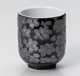 銀彩桜寿司湯呑