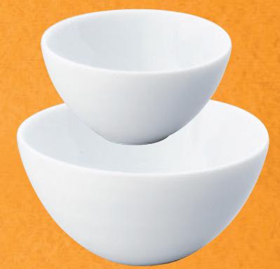 スワン白磁丸碗(大)