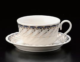 ブルーオルレアンティーカップ(碗のみ-受け皿なし)