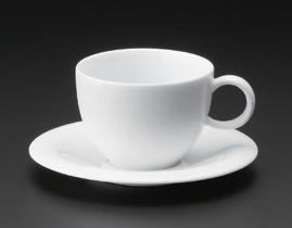 白磁ハットコーヒーC/S(碗と受け皿セット)