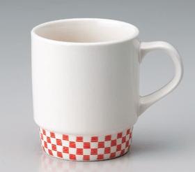 赤市松マグカップ