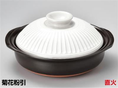 菊花粉引6号鍋