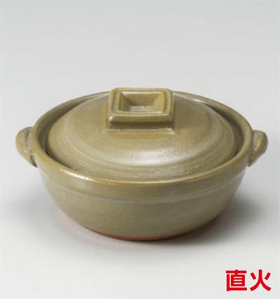 京風白刷毛目4号鍋
