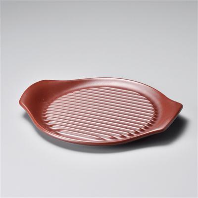 鉄赤26㎝ステーキ皿