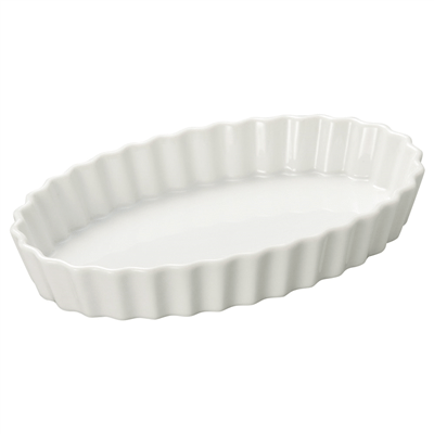 白楕円楕円10吋パイ皿