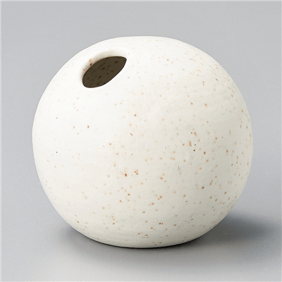 粉引マット小丸型花瓶
