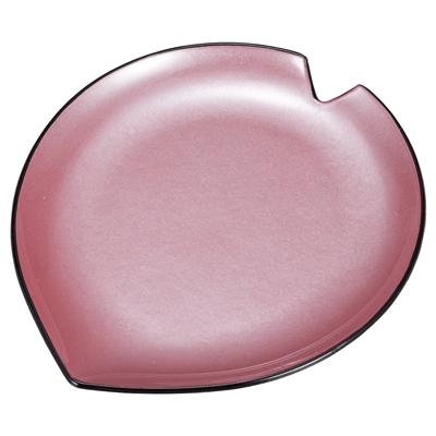 [A]花びら皿 ピンク雲流
