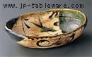織部むさしの楕円盛鉢