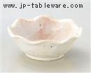 桜志野花型4.0小鉢