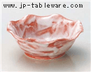 赤楽花型4.5小鉢
