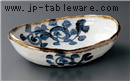 タコ唐草楕円盛鉢