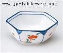 錦花六角3.5小鉢