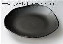 黒マット三方大皿