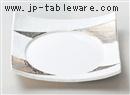 白磁プラチナ8.5寸四方皿