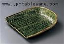 織部箕型6寸皿