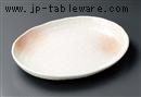 桜吹雪楕円大皿