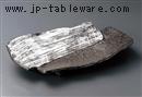 炭化土白刷毛目2段重ね尺2皿