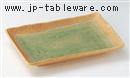 緑彩芦10.0長角皿