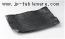 黒燻し10.0長角皿