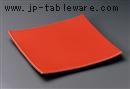 レッド正角皿(大)