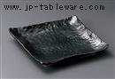 わらく黒マット9.0正角皿
