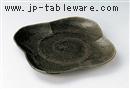 織部かすり10.0花形皿