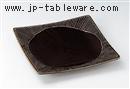 飴釉更紗十草8.0角皿