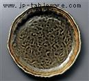 織部ライン波型10.0丸皿
