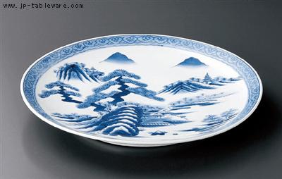 山水絵15号皿
