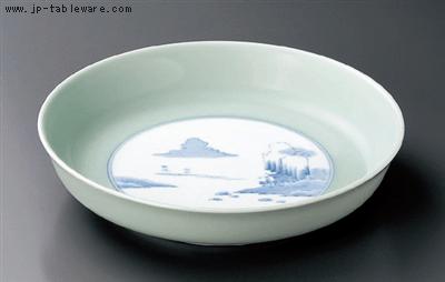 青磁内山水13号鉦鉢