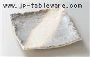 かすみ志野10.0四ツ足正角皿