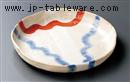 赤絵志野陽炎9.0浅鉢