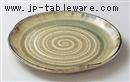灰釉8.5丸皿