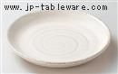 乳白うず8.0丸皿