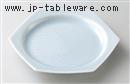 青白磁青海波六角皿(大)