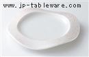 ピンクラスターウェーブ皿