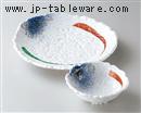 吹ずみ砂目錦7.0皿