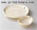 茶粉引天皿