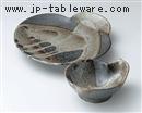 唐津流し瓢型天皿
