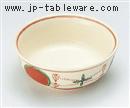 高麗赤絵丸紋丸鉢