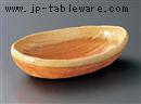 伊賀櫛目楕円鉢