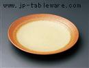 黄釉吹櫛目9.0皿