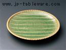 カゴメ緑彩8.0丸皿