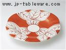 手描き木の葉9寸皿