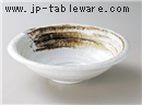 白茶刷毛たわみ鉢(大)